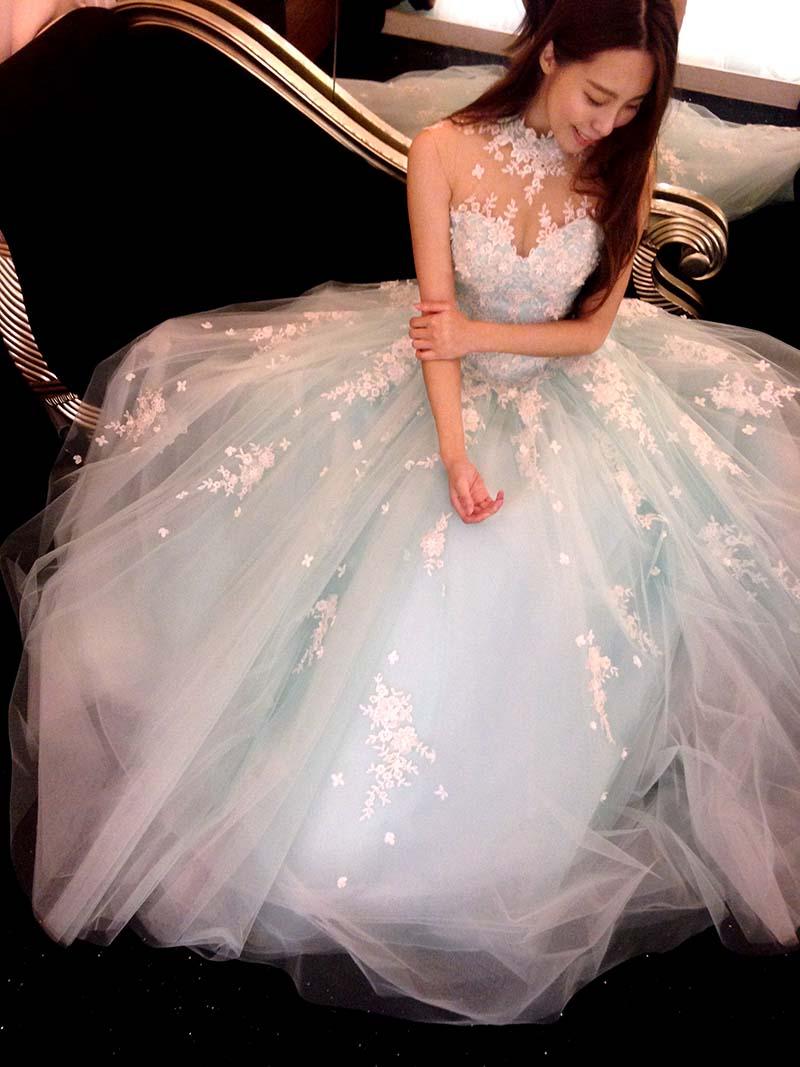 小花試穿 試穿文 蕾絲娃娃法式婚紗