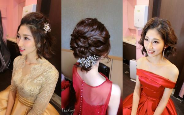 短髮新娘也可以很多造型~