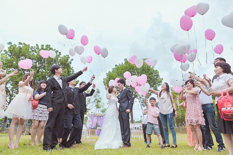紫白風格的夢幻花嫁