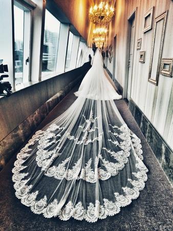 新娘秘書-瑄|盤髮|超長蕾絲長頭紗|浪漫捲髮|編髮