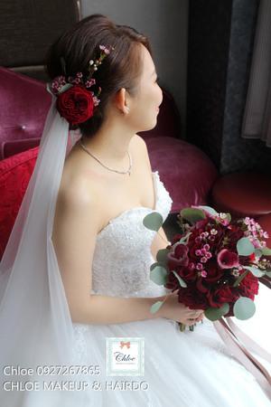 CHLOE 新娘秘書 (湘瑩結婚四造型及美式多層次捧花設計)