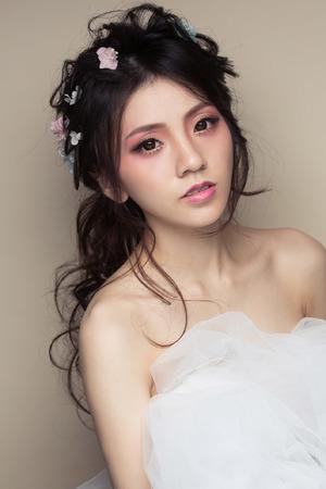 【西風愛上花神】花神慵懶玫瑰妝/微燻玫瑰/唯捲馬尾髮絲
