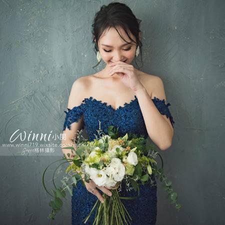 自主婚紗(氣質優雅又能時尚大方的造型)