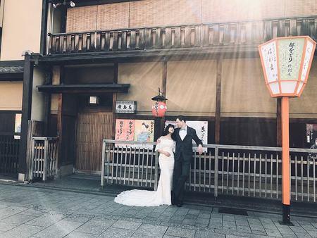 在美景的份圍中工作,太幸福了!! 謝謝甜美的上海新娘與帥氣十足的美國新郎!! 「海外婚紗·側拍花絮」