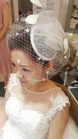 歐式紗帽白紗造型