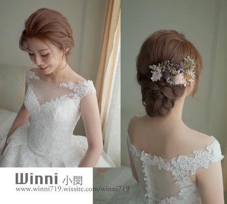 妮妮-白紗迎娶[仙女低盤髮造型]