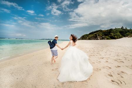 【沖繩婚紗】碧海藍天的幸福婚紗!海外婚紗 日本婚紗