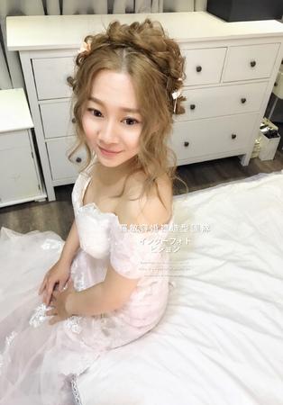 日式編髮甜美乾燥花風格2