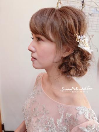 新娘髮型|氣質的日系側盤髮造型[SunnyYuBridal。新秘雨晴]