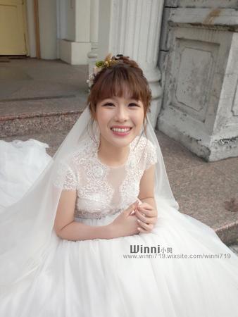 Rachel白紗證婚造型(浪漫花系高盤髮)
