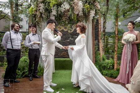 婚禮紀錄 | 花園證婚 台北君悅酒店