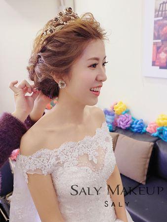 新秘saly甜美新娘造型(白紗+晚禮服造型)