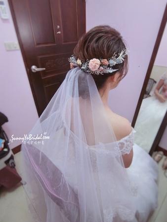 結婚白紗*乾燥花,仙仙新娘髮型。[新秘雨晴Sunnyyu]