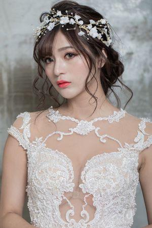白紗浪漫盤髮