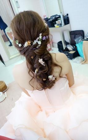 Isa婚禮造型_紫姻