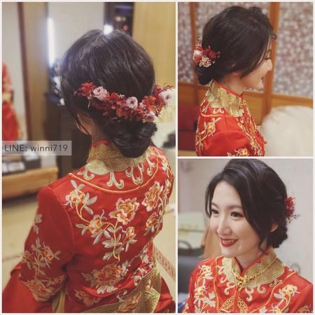 秀和服新娘造型(永生花乾燥花髮飾)