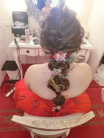 新娘秘書-jessie|好媳婦髮型|球球造型|側邊編髮|乾燥花不凋花