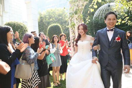 婚攝木瓜|戶外證婚-林皇宮花園|木唯攝影