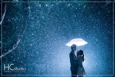HC婚紗照 x 浪漫雨景