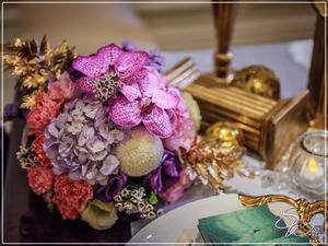 囍宴軒婚禮佈置-嬡瑪仕廳『時尚華麗宮廷風-粉紫金色』婚禮...1061203