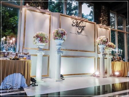 八德來福星婚禮佈置-金鑽廳『時尚簡約風-粉金色』婚禮...1060603