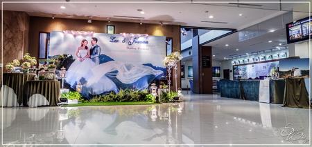 桃禧航空城婚禮佈置-1樓自助西餐廳『自然浪漫風-深淺粉白色』婚禮...1061203