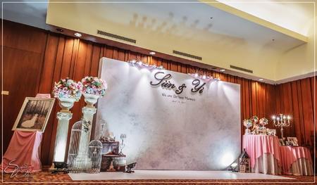南方莊園婚禮佈置-亞維農廳『簡約浪漫系列-粉白淺藍色』婚禮...1060715