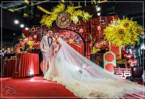 故宮晶華婚禮佈置-1樓『經典中國風-紅金色』婚禮...1060618