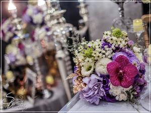 八德彭園會館婚禮佈置-F廳『時尚華麗石灰紋風-深淺紫白金色』婚禮...1070428