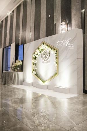經典大理石紋設計款-彭園婚宴會館八德館