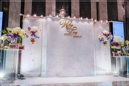 彭園會館婚禮佈置-八德館BC廳『時尚清新簡約風-紫白色』婚禮...1060318