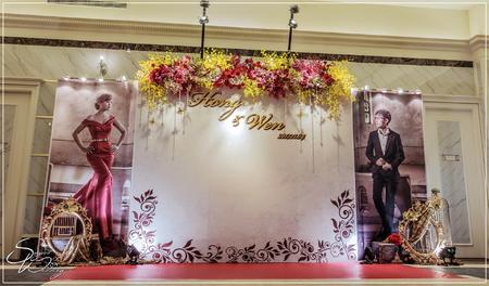 茂園和漢美食館婚禮佈置-A廳『巴洛克宮廷風-紅金色』婚禮...1061104