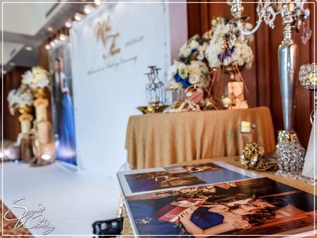 南方莊園婚禮佈置-亞維農廳『華麗高雅宮廷風-藍白金色』婚禮...1070501