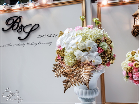 晶麒莊園婚禮佈置-國際廳『時尚巴洛克風-粉白金色』婚禮...1070324