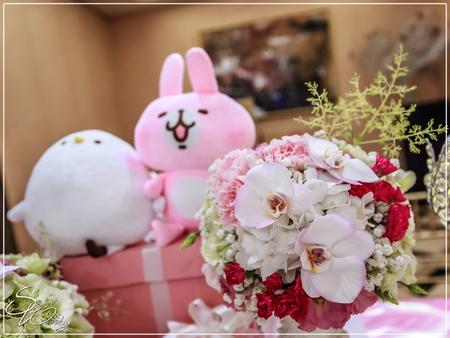 揚昇高爾夫球場婚禮佈置-聯誼廳『浪漫卡娜赫拉風-粉白桃紅色』婚禮...1070623