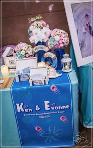 尊爵天際紫雲廳『海綿寶寶-藍白粉色』婚禮...1051225