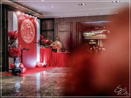 尊爵大飯店婚禮佈置-宴會廳『西方時尚混搭中式傳統風-粉紫白紅色』婚禮...1070506