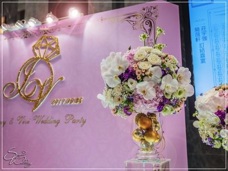 八德彭園會館婚禮佈置-B+C廳『時尚簡約風-紫白色』婚禮...1060528