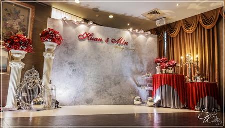大溪蘿莎會館婚禮佈置-本館『時尚簡約風-紅銀色』婚禮...1061112