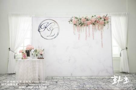 第17號傘板(布式背板)套餐❤花草 克萊兒(Floral Claire)