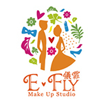 儀霏。E-Fly  Make up  Studio的logo