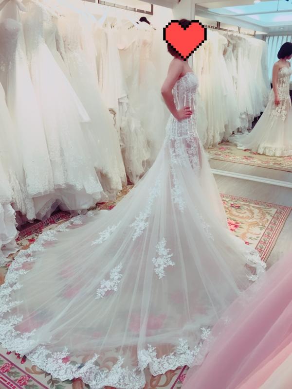 圖二,這件白紗也是充滿仙氣~~~軟馬甲一點也不會不舒服,裙擺超美