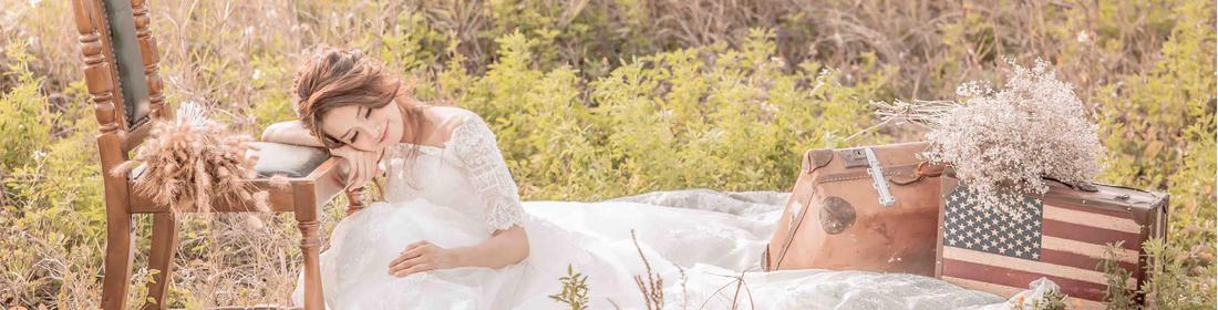 蕾絲娃娃法式手工婚紗