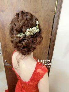文定儀式|乾燥花髮型|文定髮型