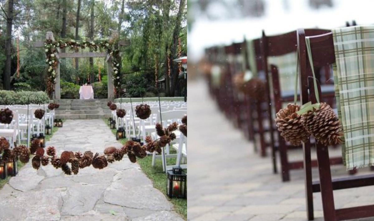 8 2 森林中的溫柔姿態,秋冬婚禮專屬的「特色松果捧花」