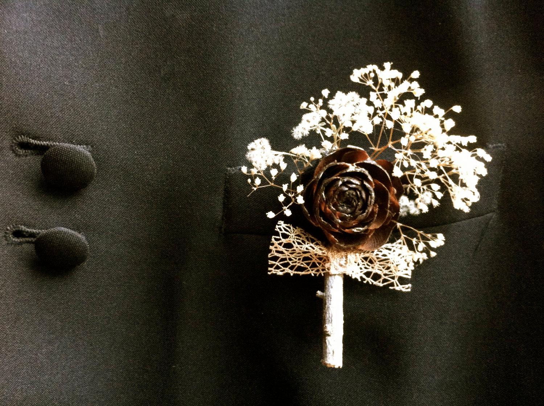 ori 33822 森林中的溫柔姿態,秋冬婚禮專屬的「特色松果捧花」