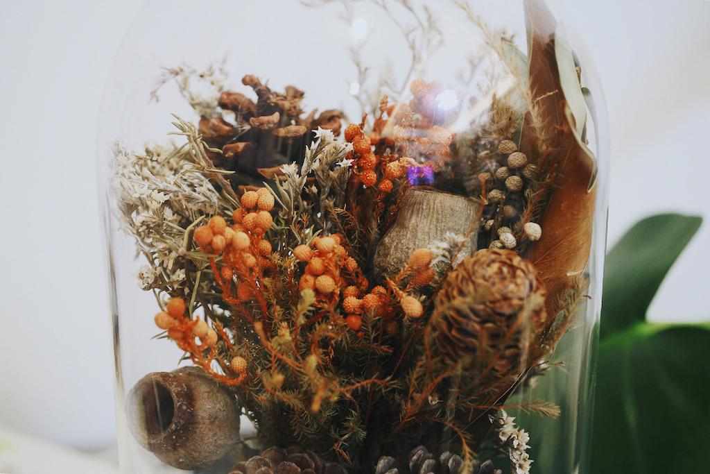 IMG 8113 森林中的溫柔姿態,秋冬婚禮專屬的「特色松果捧花」