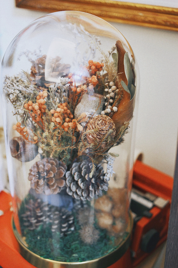 IMG 8126 森林中的溫柔姿態,秋冬婚禮專屬的「特色松果捧花」