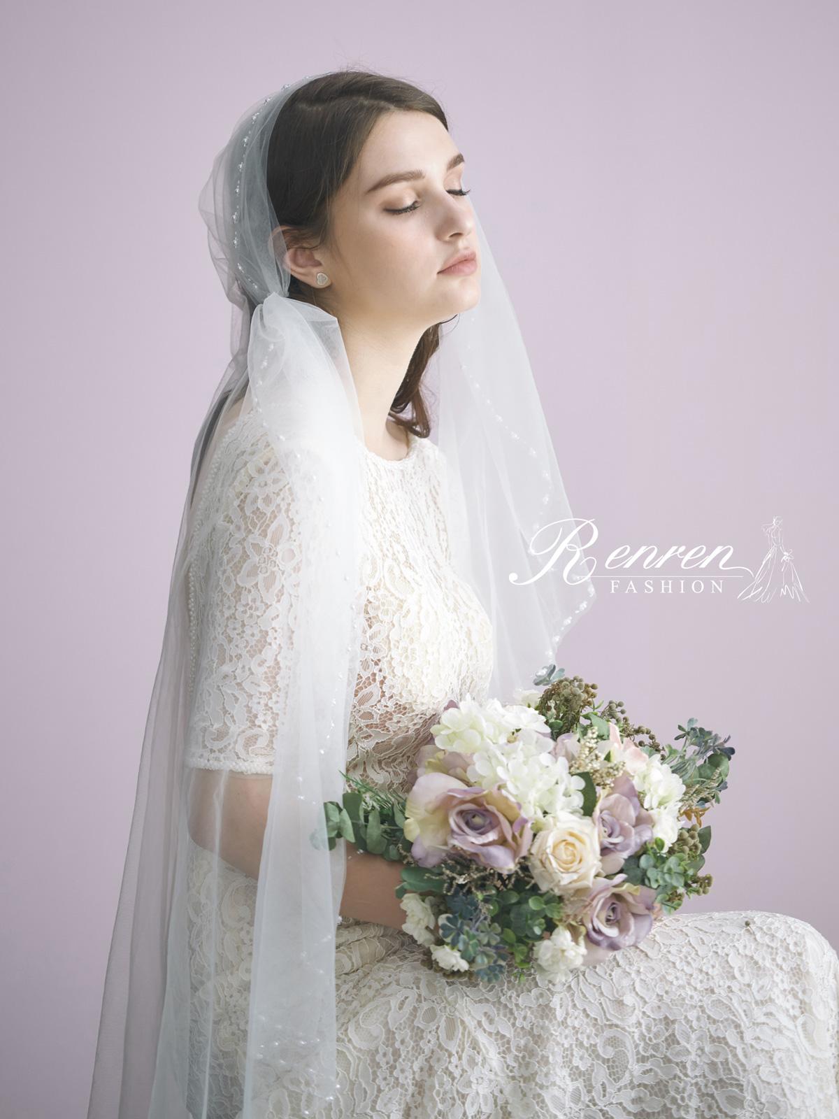 台中-冉冉-歐美婚紗-美式頭紗-1