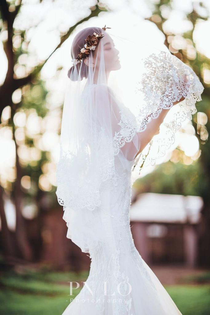 台中-冉冉-歐美婚紗-美式頭紗-3
